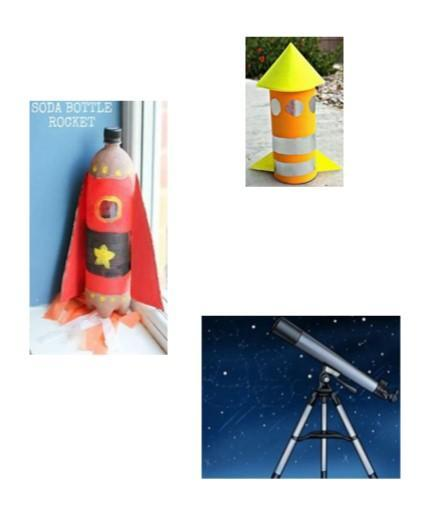 Perhaps you could build a rocket using junk modelling (bottles, toilet roll tubes or boxes