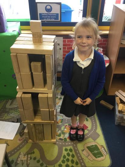 Proud of her castle