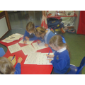 We have been writing the 'tricky words'