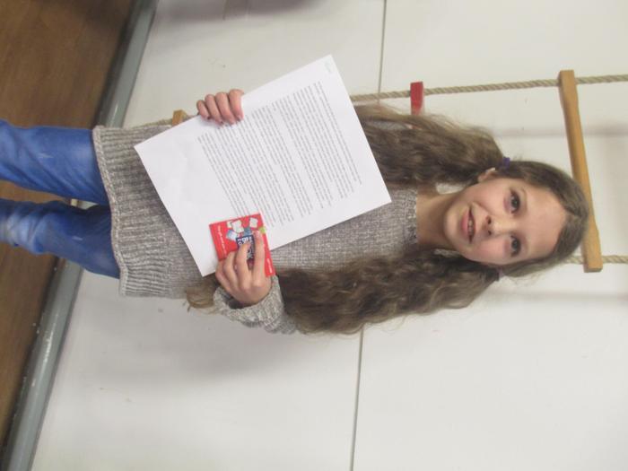Layla - winner of 500 word story Yr 5/6