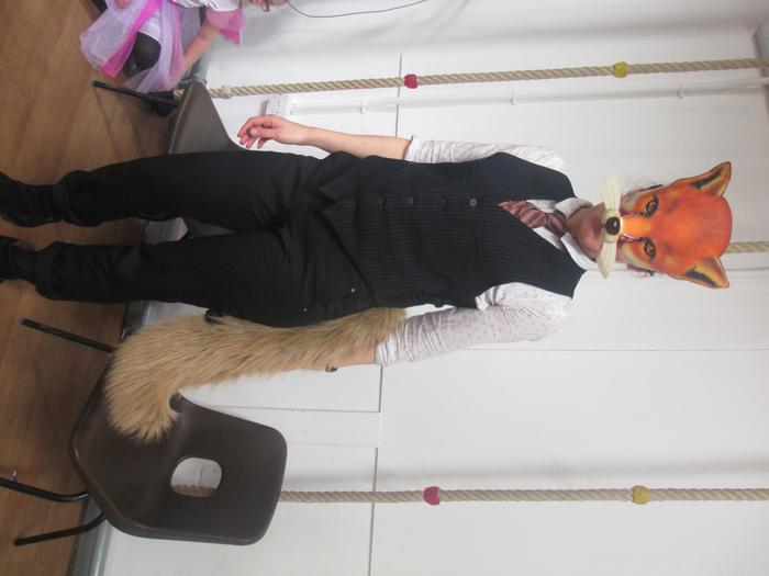 Miss Lewis as Fantastic Mr Fox - World Book Day