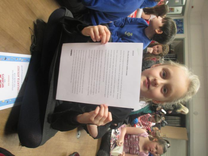 Abigail - runner-up 500 word story Yr 3/4