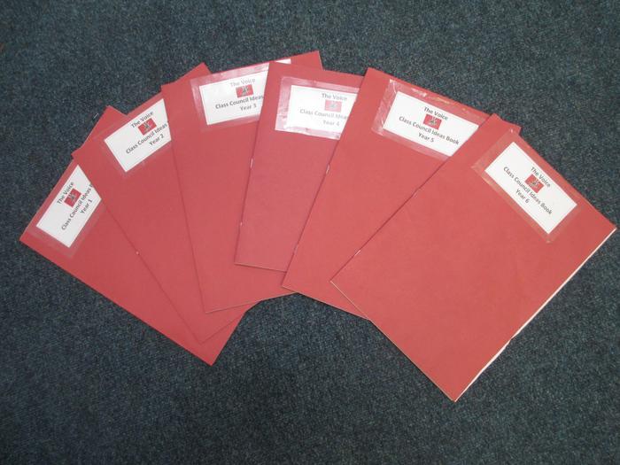 Our School Council ideas books!