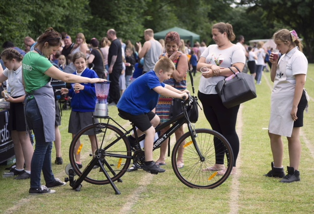 Smoothie making via cycle power - Summer Fete 2018