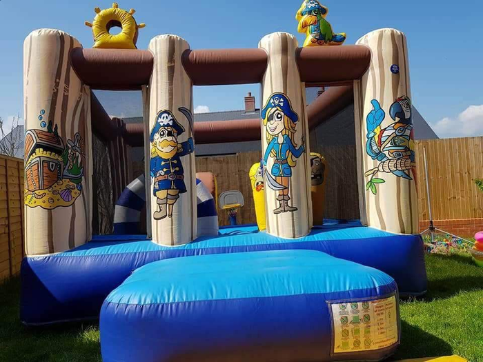 Bouncy castle at the Summer Fete 2018