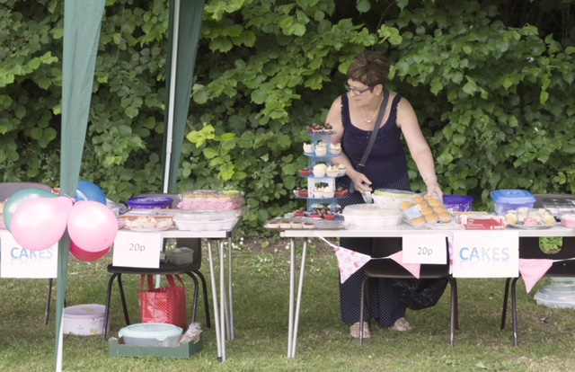 Cake stall at the Summer Fete 2018