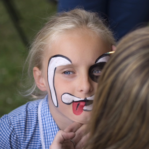 Face painting at the Summer Fete 2018