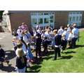 We walked for wildlife with our year 5 buddies...