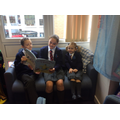 Being great role models to our Red Class buddies