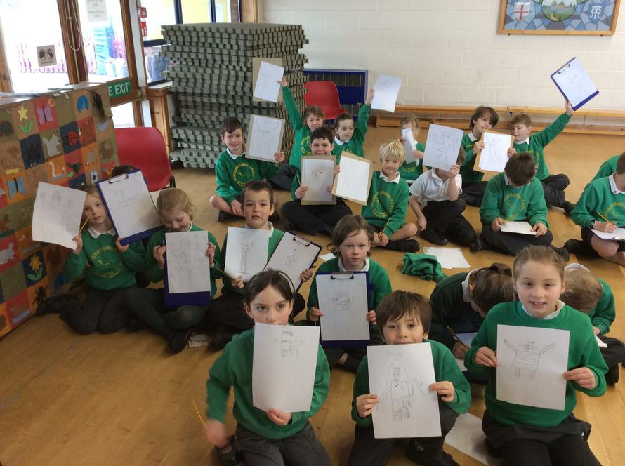 Y3 and 4 drawing robots