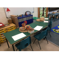 Fine motor and writing area