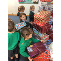 Taking our Christmas boxes ready to be collected.