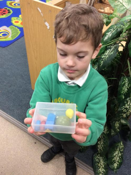 Ted's collection of small things...how many did you manage to fit in your tub Ted?