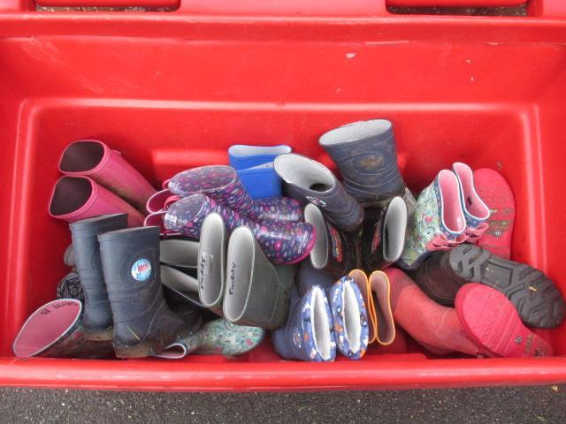 Our new wellie boot storage
