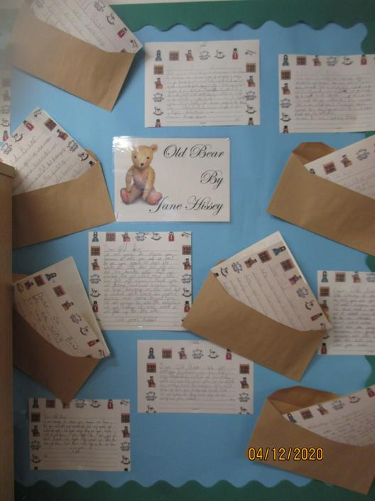Display of letters in the library