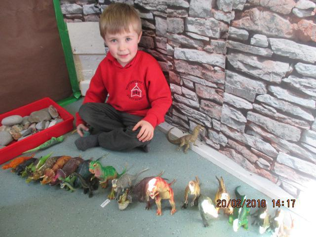 Sorting dinosaurs by species and size