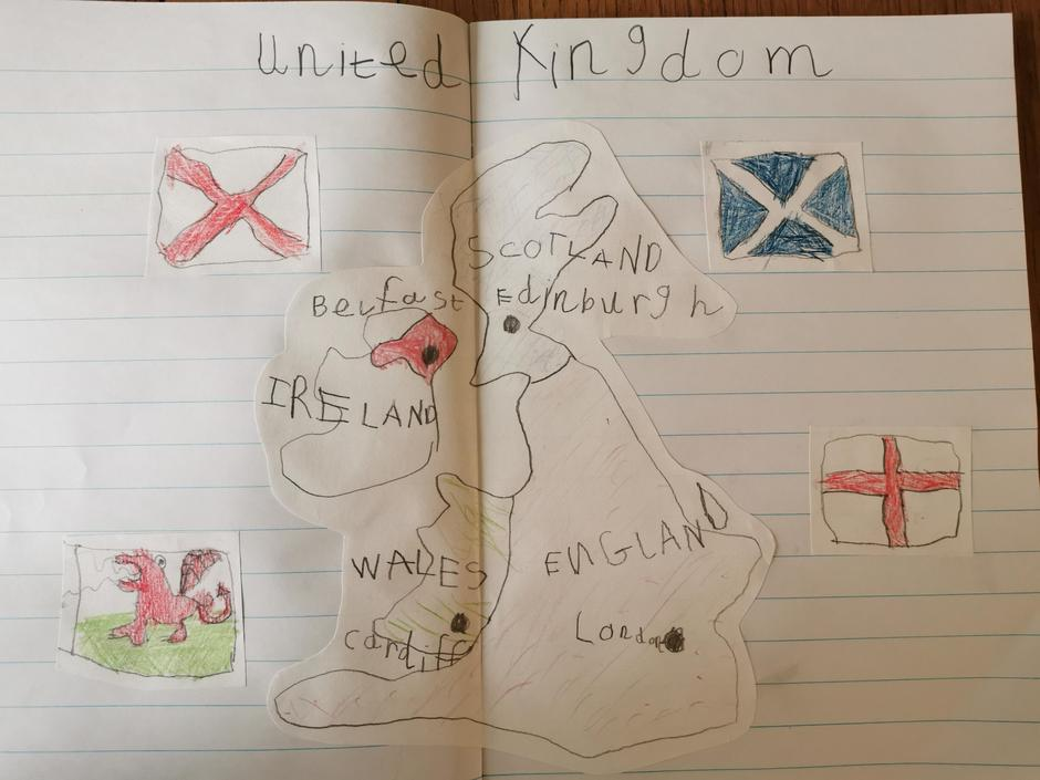 Fabulous map and flags from Jack!