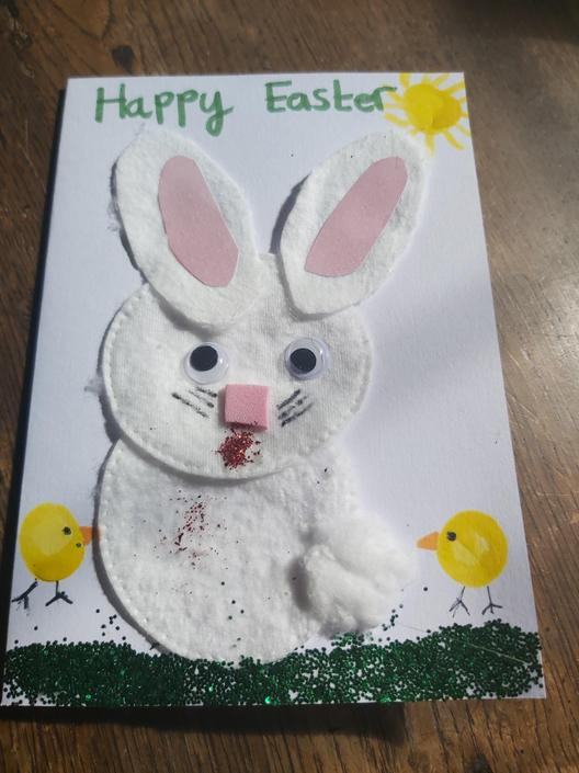 James has made a great Easter card too!