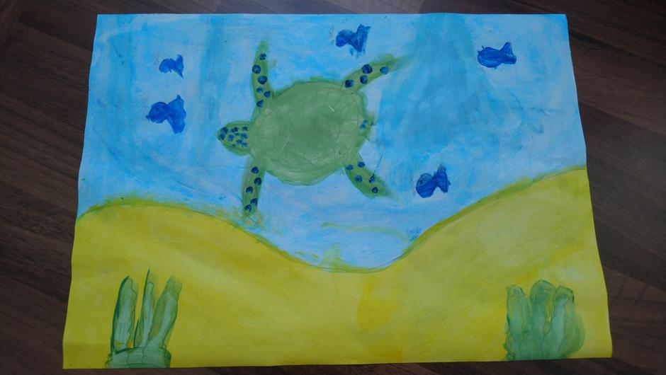 A fabulous underwater painting by Carly!