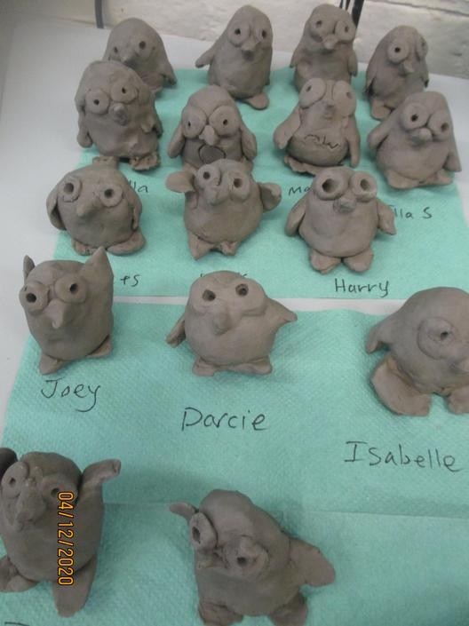Clay work from forest school