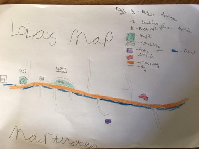 You won't get lost in Martinstown! Well done Lola.
