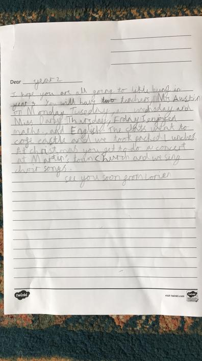 Lorien's Letter