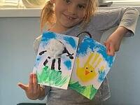 Tabby-Ann's finished Easter cards. Very clever.