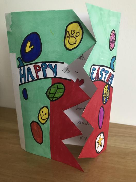 Look at William's fantastic Easter Card.