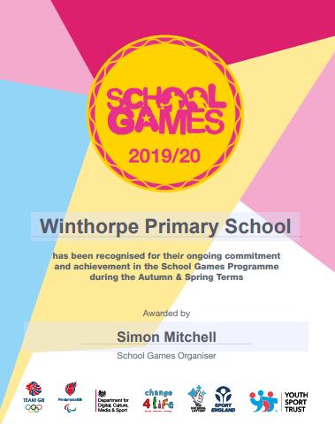 School Games Gold 2019 2020