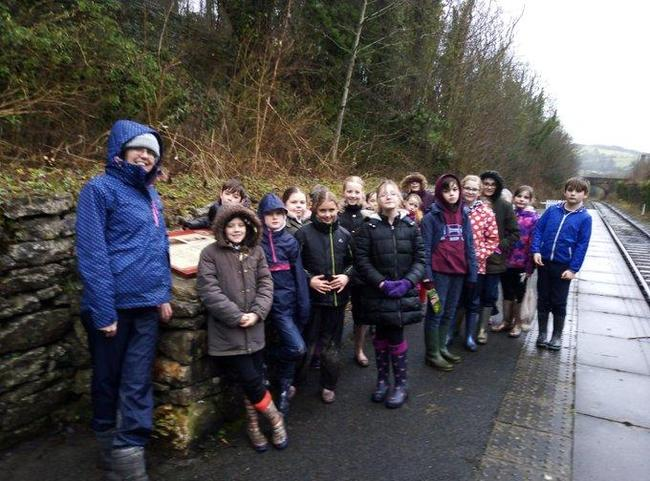 Forest School Walkers in the rain