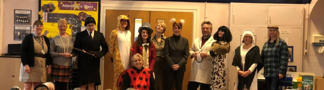 Staff on World Book Day 2020