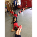 Using our bodies to make letters