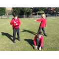 Byland class creating freeze frames!