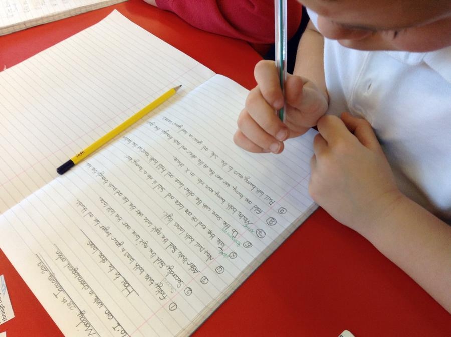 Writing in chronological order!
