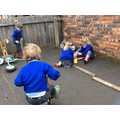 Making a car park for all our vehicles.