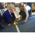Beebot challenge to change direction.
