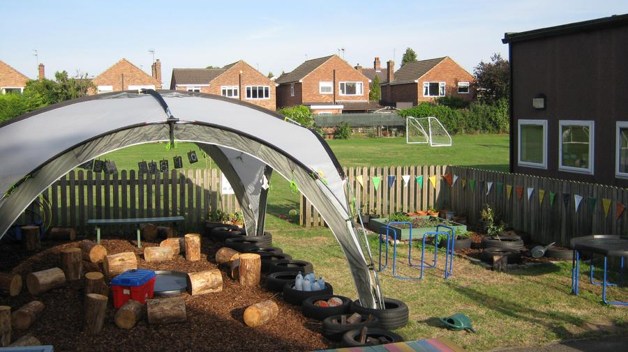 Thanks to generous donations we have revamped our outdoor area. We love it!
