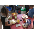 Snack bar sandwich making on our own!