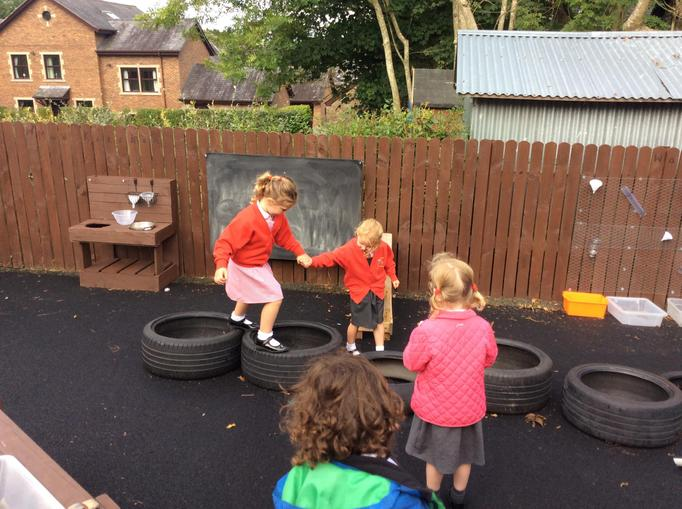 Building our own obstacle course!