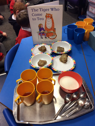 We had a tiger join us for Tea!