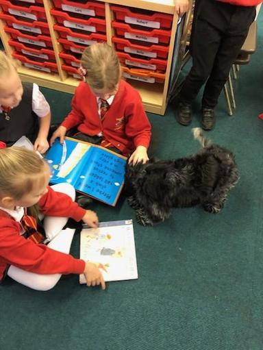 Mille loves reading with children in Year 1 and 2