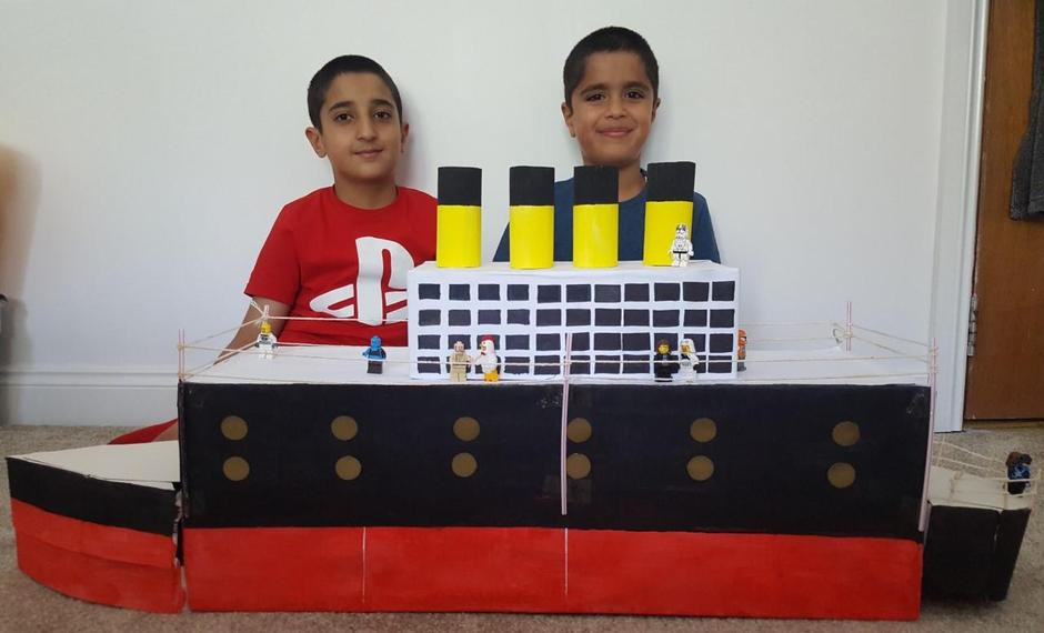 An excellent model of the Titanic!