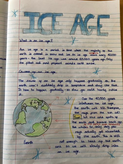 Penelope's Ice Age explanation page 1