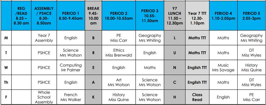 timetable 2021-22