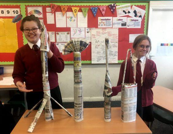 We had a class call in the afternoon to test the towers that we had buil