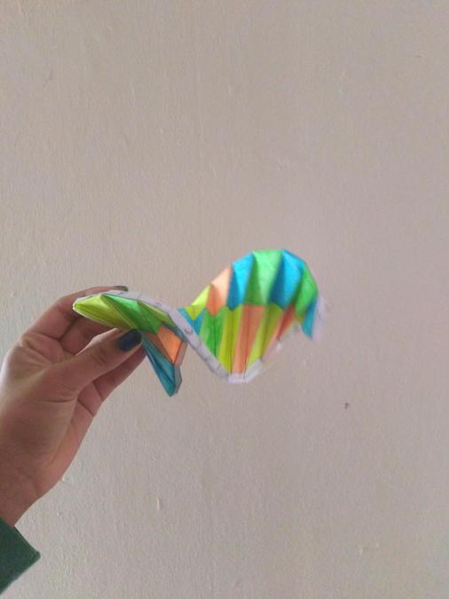 Colourful origami (AH)