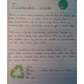 Our Planet: our responsibility - encouraging people to eliminate waste