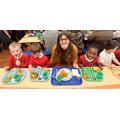 Councillor Cutkelvin & children enjoyed a lunch