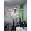 Mr Mawby dressed as a doctor