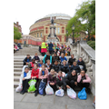 On the steps of the Royal Albert Hall